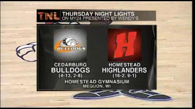 Week 6 Cedarburg vs Homestead 2/9/2012