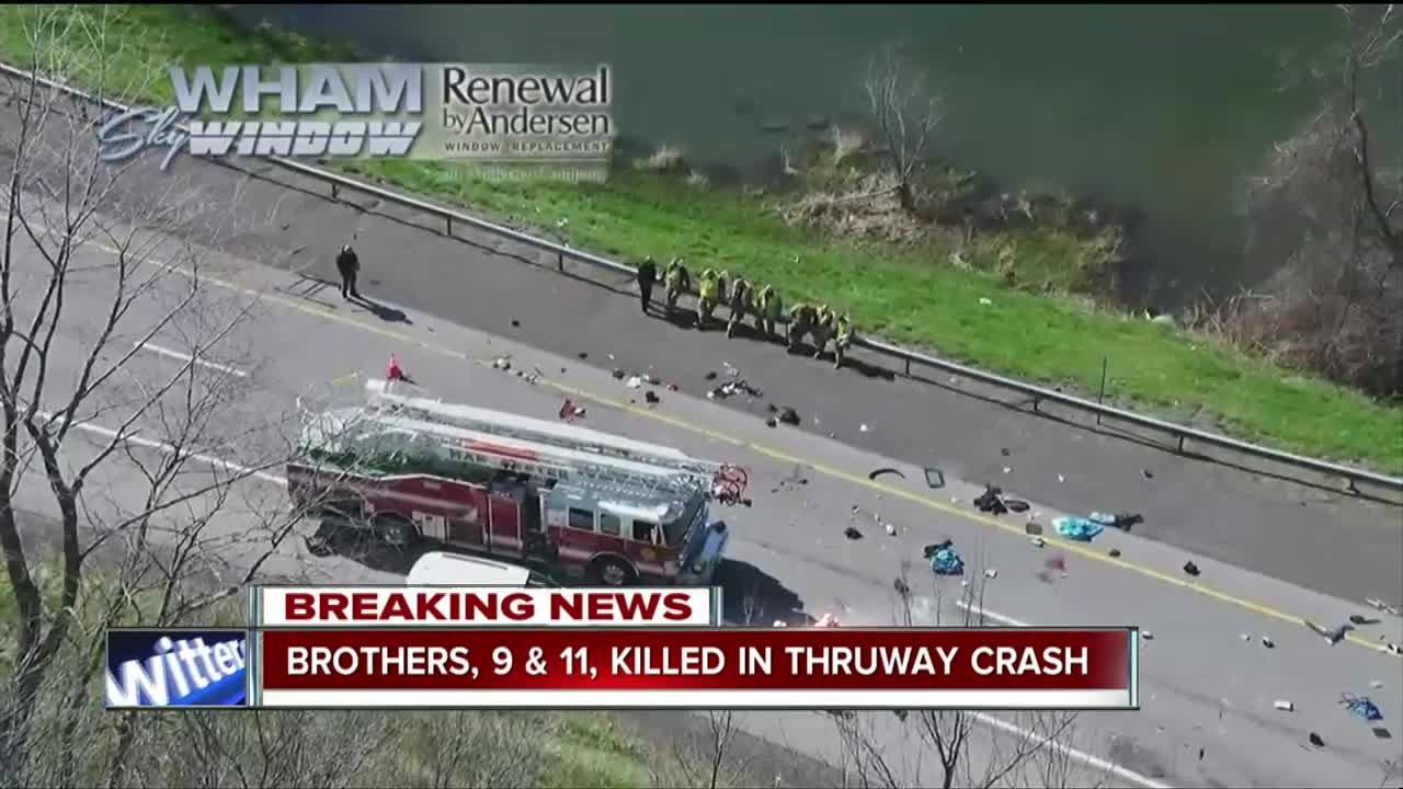 Police identify boys in double fatal Thruway crash