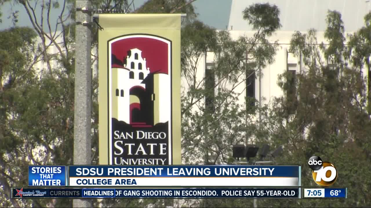 347bb316 SAN DIEGO - San Diego State University President Elliot Hirshman announced  Wednesday morning that he will be leaving the school to become president of  ...