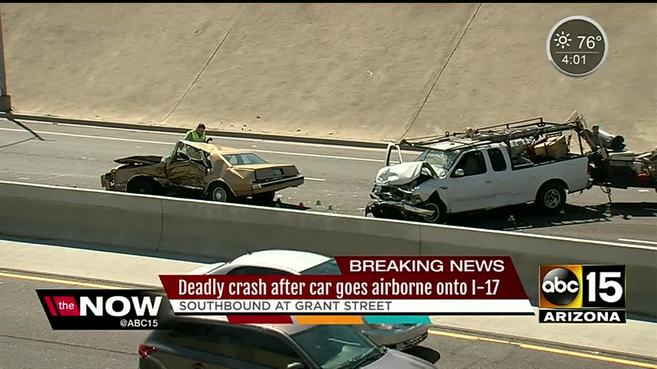 DPS: 1 dead, 3 seriously hurt after car goes airborn and