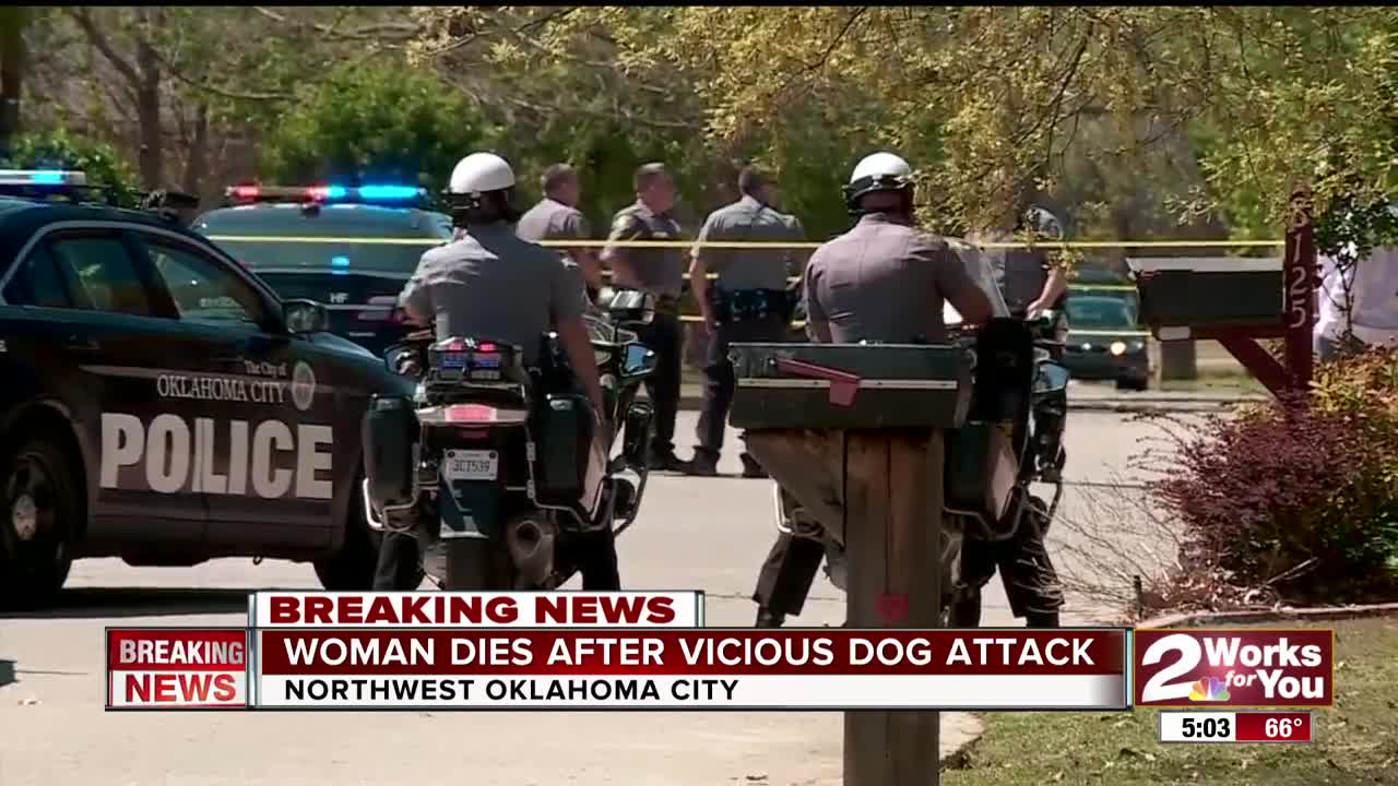 Police: Oklahoma woman dies after being attacked by two pit bulls