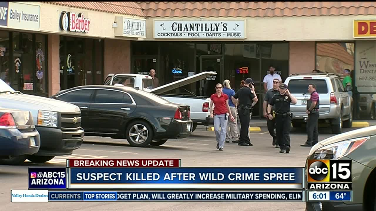 PD: Suspect in Ahwatukee shooting, Glendale carjacking dies after