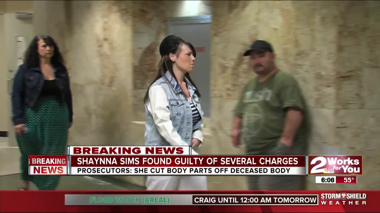Shaynna Sims, woman accused of slashing face, breasts of corpse found guilty