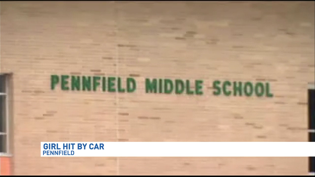 12-year-old girl hit by car outside Pennfield Middle School