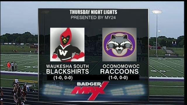 2015 Badger Max Thursday Night Lights Week 2 Waukesha South vs Oconomowoc