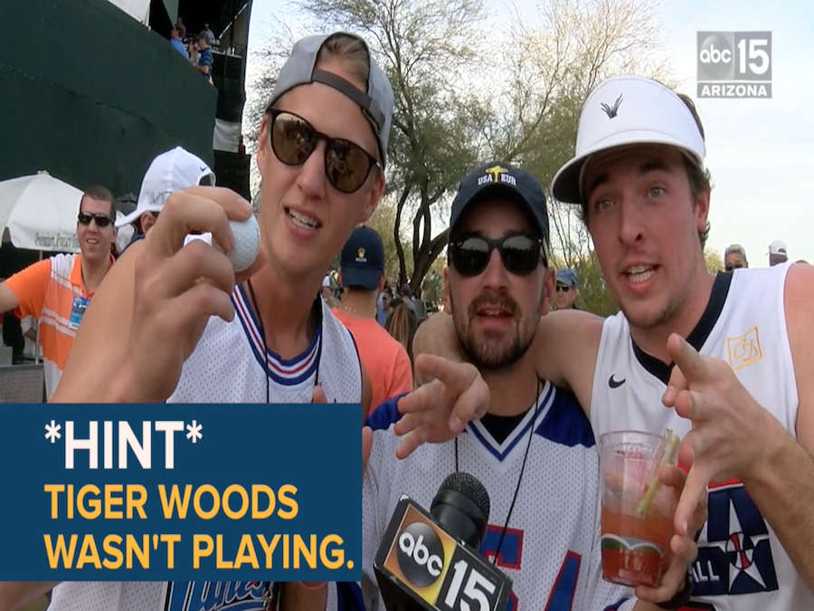 prank  fans think they saw tiger woods at the 2019 waste management phoenix open