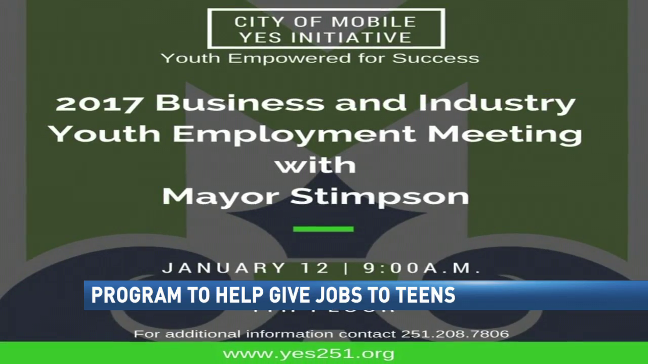 city program to help give jobs to teens wpmi teen jobs yes initiative
